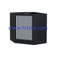 Шкаф инструментальный угловой серый. Габариты: 865 x 865 x 910мм
